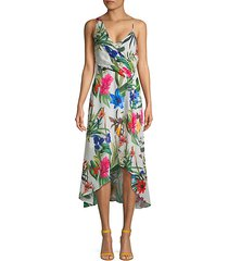 floral asymmetric high-low dress