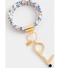 clean key bracelet in multi leopard - multi