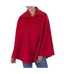 alpaca blend cape, 'attractive temptation in ruby' (peru)