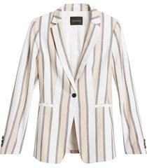 blazer lino stripe gris banana republic