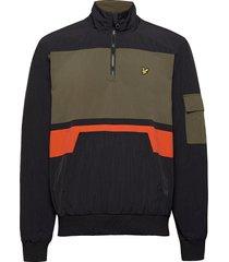 1/4 zip track jacket outerwear jackets anoraks svart lyle & scott