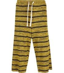 chin menswear intl striped jersey shorts - yellow