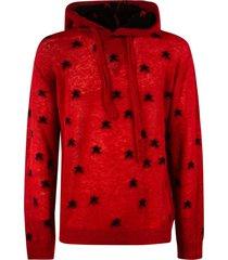 laneus motif print hoodie
