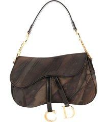 christian dior pre-owned saddle handbag - brown