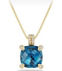 women's david yurman chatelaine pendant necklace with diamonds