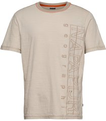 selton t-shirts short-sleeved beige napapijri