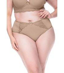 calcinha sempre sensual lingerie bonitá marrom claro - kanui