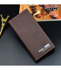 billetera, bolso largo ocasional del traje de-marrón