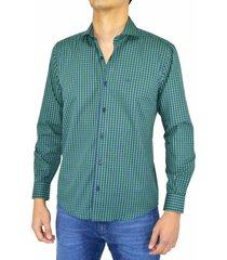 camisa verde pato pampa cuadros