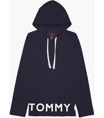 tommy hilfiger men's modern essentials hoodie navy - l