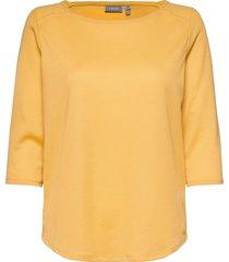 frpejacq 1 t-shirt t-shirts & tops long-sleeved gul fransa