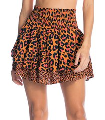 falda naranja-negro-rojo maaji swimwear magic stone shell