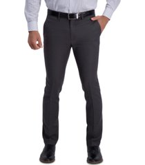 kenneth cole reaction men's extra slim-fit stretch micro check houndstooth dress pants
