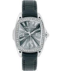 relógio de pulso chronotech prisma lady night - aço c