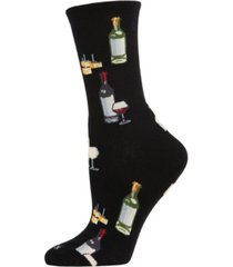 memoi wine and cheese women's novelty socks