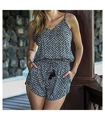 rayon romper, 'weekend getaway' (indonesia)