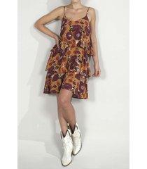 vestido para mujer tennis, corto y estampado de flores moradas