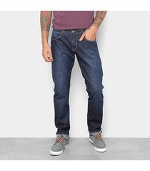 calça forum jeans skinny masculino