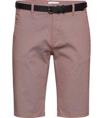 aop chino shorts w. belt shorts chinos shorts rosa lindbergh