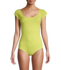rag & bone women's nadia bodysuit - lime green - size xxs