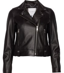 leila leather biker leren jack leren jas zwart tommy hilfiger