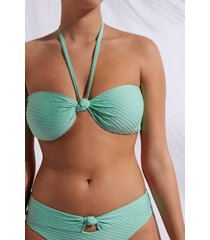 calzedonia padded bandeau swimsuit top valencia woman green size 4
