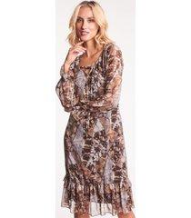 zwiewna sukienka we wzory