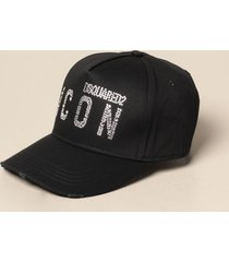 dsquared2 hat dsquared2 baseball cap with rhinestone logo