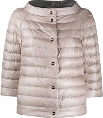 herno funnel-neck reversible quilted-down jacket - neutrals
