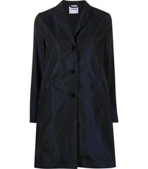 aspesi single breasted mid-length coat - blue