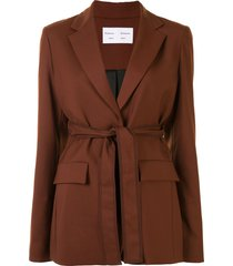 proenza schouler white label tied-waist single-breasted blazer - brown