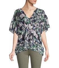 dreda floral georgette blouse