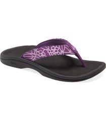 women's olukai ohana flip flop, size 11 m - purple