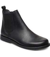 booties-flat - with elastic shoes chelsea boots svart angulus