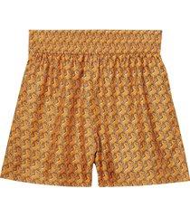 burberry unicorn print shorts - orange