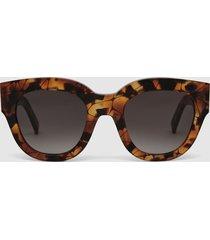 reiss cleo - monokel eyewear acetate sunglasses in havana, womens