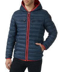 contrast piping puffer jacket