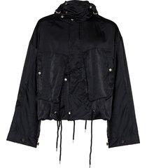 bed j.w. ford multi pocket windbreaker jacket - blue