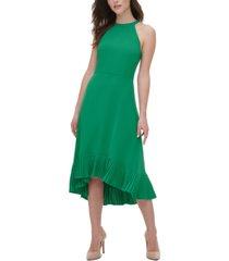 kensie pleated midi dress