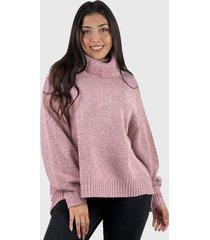 sweater beatle lana mujer boho rosado enigmática boutique