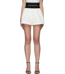 logo elastic waistband safari shorts