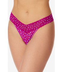 hanky panky women's cross dyed leopard original rise thong