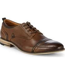 kobold cap toe leather derbys