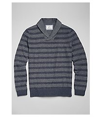 1905 collection textured stripe cotton men's sweater - big & tall