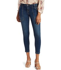 joie women's park mid-rise cropped skinny jeans - cruise - size 25 (2)