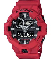 reloj g-shock ga_700_4a rojo resina hombre