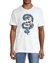 robert graham men's dozier cobra skull graphic t-shirt - white - size m