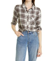 rails hunter plaid shirt, size xx-large in ivory coal blush at nordstrom