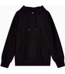 mens black twill hoodie