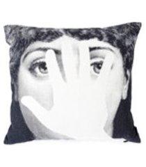 fornasetti travesseiro com estampa - branco